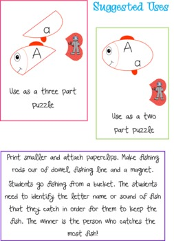 Fishy Friends - Alphabet Puzzles