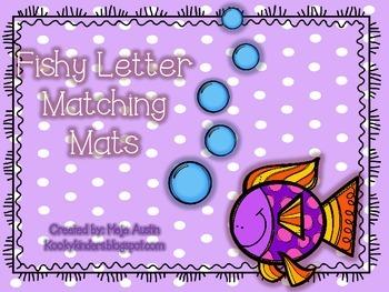 Fishy Letter Mats