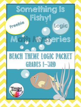 Fishy Math- Logic and Critical Thinking Worksheets Freebie