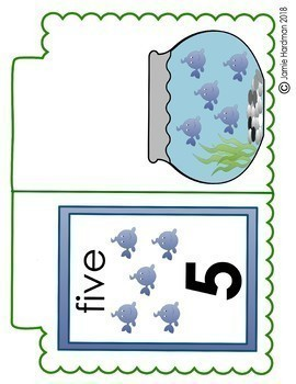 NUMBERS Fishy flipchart book 1-20 **OCEAN**