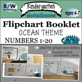 NUMBERS Fishy flipchart book 1-20 **OCEAN**