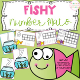 Fishy Playdough Number Mats