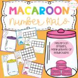 Macaroon Playdough Number Mats
