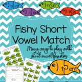 Fishy Short Vowel Words Match Up