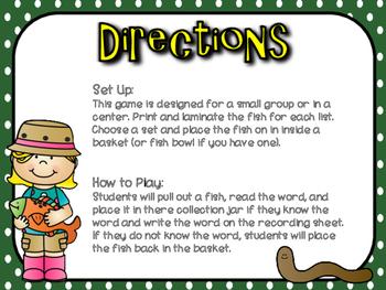 Fishy Sight Words