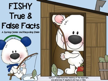 Fishy True False Fact Center & Worksheet