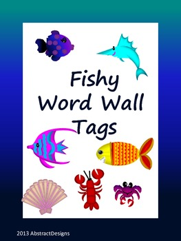 Fishy Word Wall Tags
