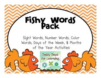 Fishy Words: A Sight Words, Color Words, Number Words, & M