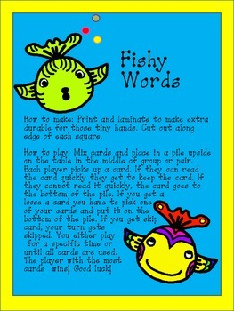 Fishy Words - Sight Word Card Game
