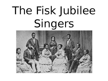 Fisk Jubilee Singers documentary companion worksheet and key