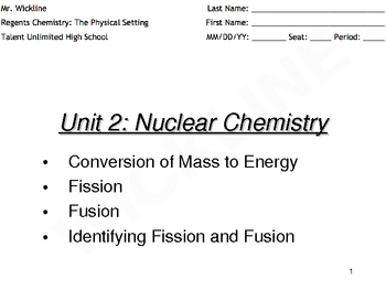 Fission, Fusion, and the Mass Defect