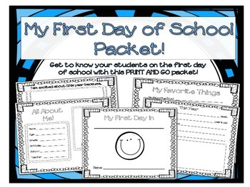 Fist Day of School Packet