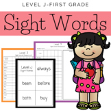 Fist Grade Level J Sight Words