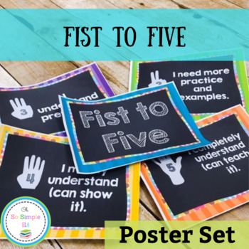Fist to Five Chalkboard Poster Set