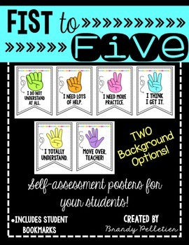 Fist to Five Levels of Understanding Self-Assessment Posters