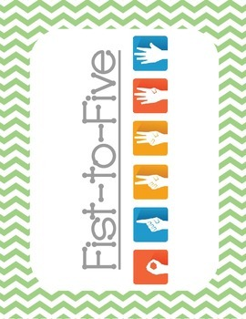 Fist-to-Five Posters {Chevron Theme}