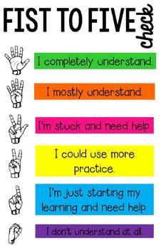 Fist to Five Understanding Check