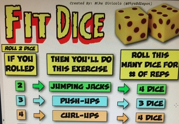 Fit Dice - Great instant warm-up PE activity!