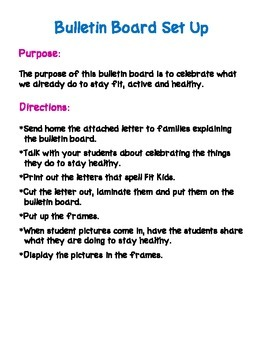 Fit Kids Bulletin Board Kit