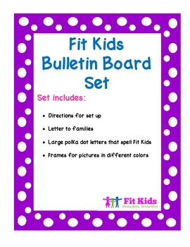 Fit Kids Bulletin Board Kit