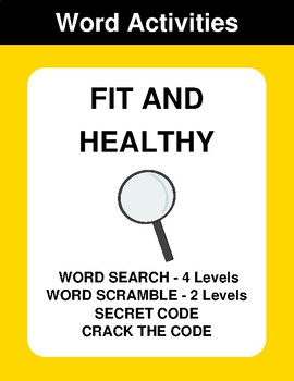 Fit and healthy - Word Search Puzzle, Word Scramble,  Crack the Code