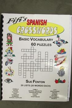 Fiti's Spanish Crosswords - Basic vocabulary 60 puzzles