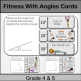 Fitness Angle Center Game: Grade 4, 5: Math in PE or Brain Breaks: Protactor