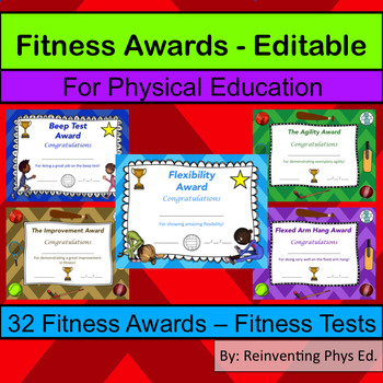 Fitness Awards - Physical Education Certificates (Editable)