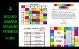 4 Fitness-Based Board Games Bundle for the Classroom, PE,