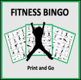 Fitness Bingo - an exercise game for the classroom or gym