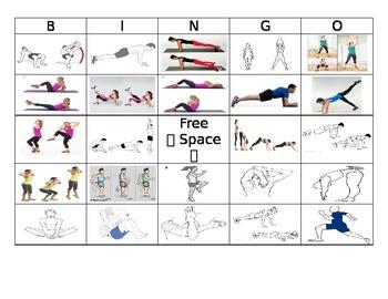Fitness Bingo-Modified PE or Elementary