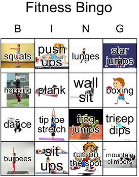 Fitness Bingo - Printable and Digital