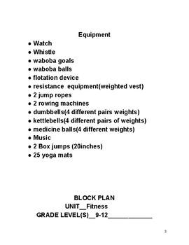 Fitness Block Plan
