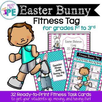 Easter Bunny Fitness Tag By Ready Set Pe Teachers Pay Teachers