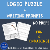 Fitness Challenge Logic Puzzle - Critical Thinking + Writing Prompt!