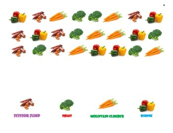 Fitness Charts Vegetables