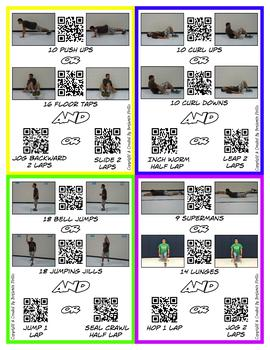 Fitness Choice Cards (Print Friendly)