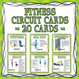 Fitness Circuit Training Cards - 20 Cards