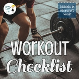 Fitness Circuit Checklist - Editable in MS Word - Online D