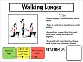 Fitness Circuit Station Cards