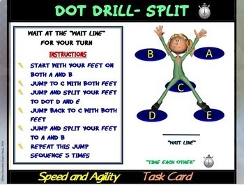 """Fitness Circuit Task Cards- """"Speed and Agility"""""""