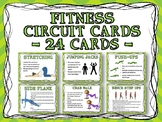 Fitness Circuit Training Cards - 24 Cards Distance Learning
