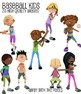 Fitness Clip Art - 28 Baseball Kids Commercial Use Clipart