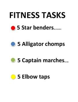 Fitness Color Dots - Captain Letter Pie or Aim 4 Pie