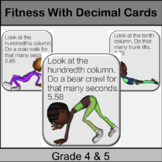 Fitness Decimals Centres Game: Grade 4, 5: Math in Physed or Math Brain Breaks