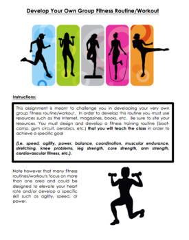 Health & Fitness - Develop your own group fitness workout (Editable)