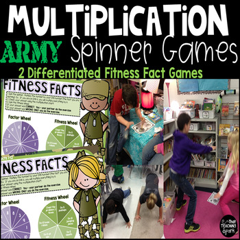 Fitness Facts Multiplication Spinner GamesGame