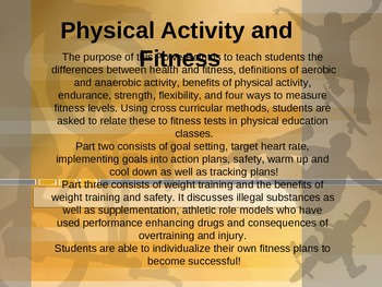 Fitness, Fitness Planning and Weight Training