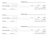 Fitness Gram Data Sheets