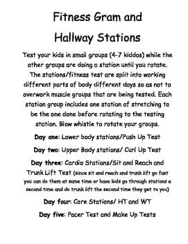 Fitness Gram Test Hallway Circuit